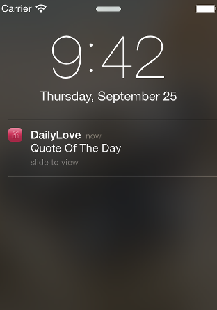 DailyLove Notification